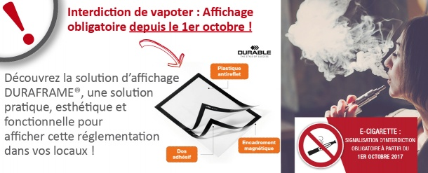 Interdiction de vapoter !